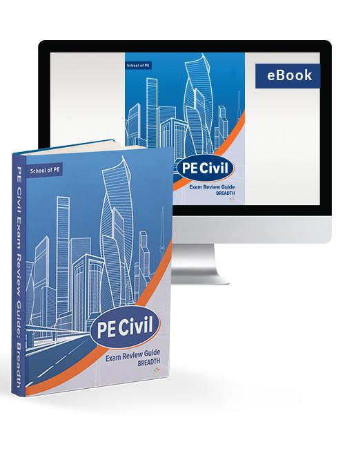 PE Civil Exam Review Guide: Breadth (Hardcover & eBook)