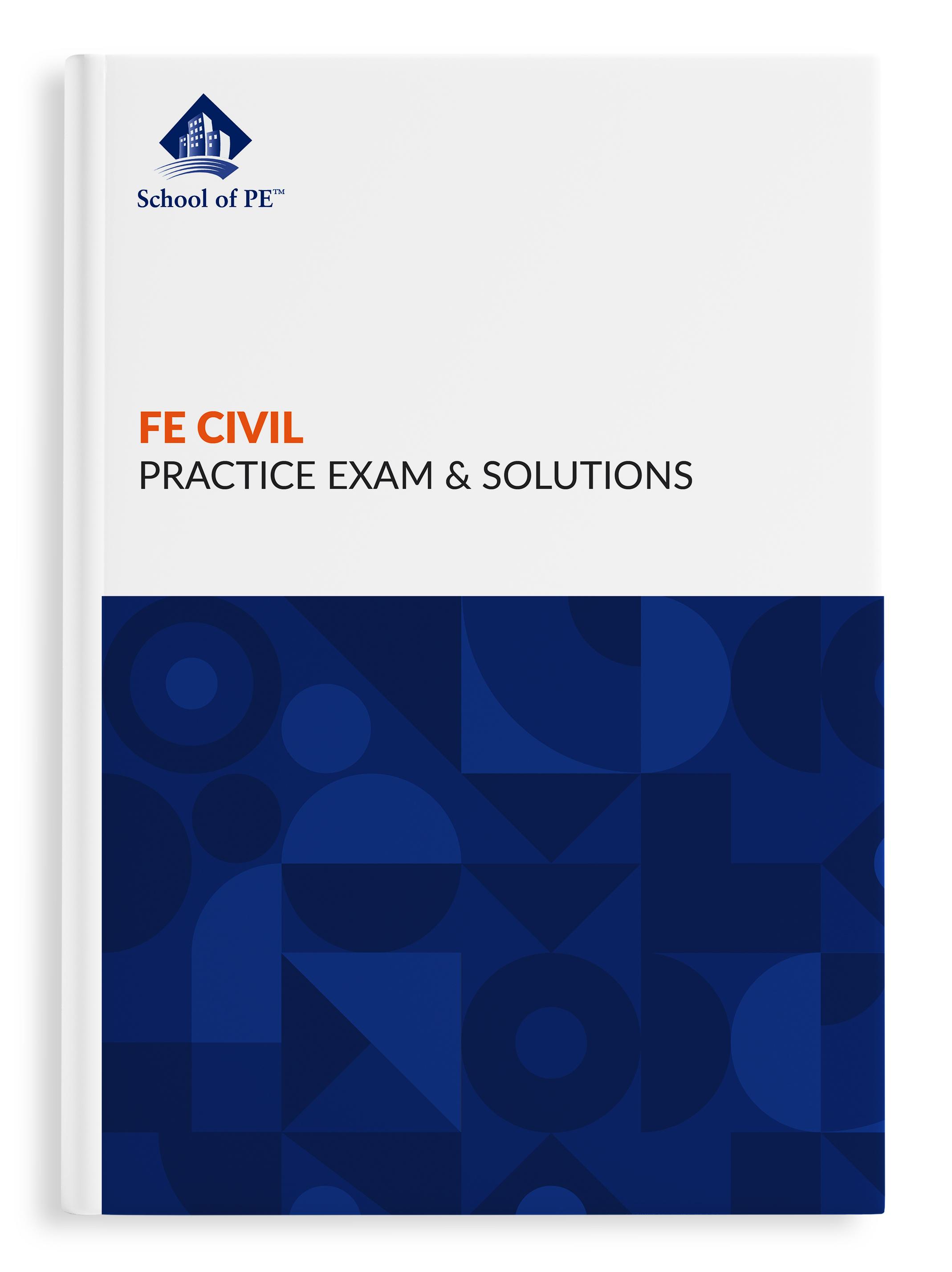 FE民事实践考试和解决方案