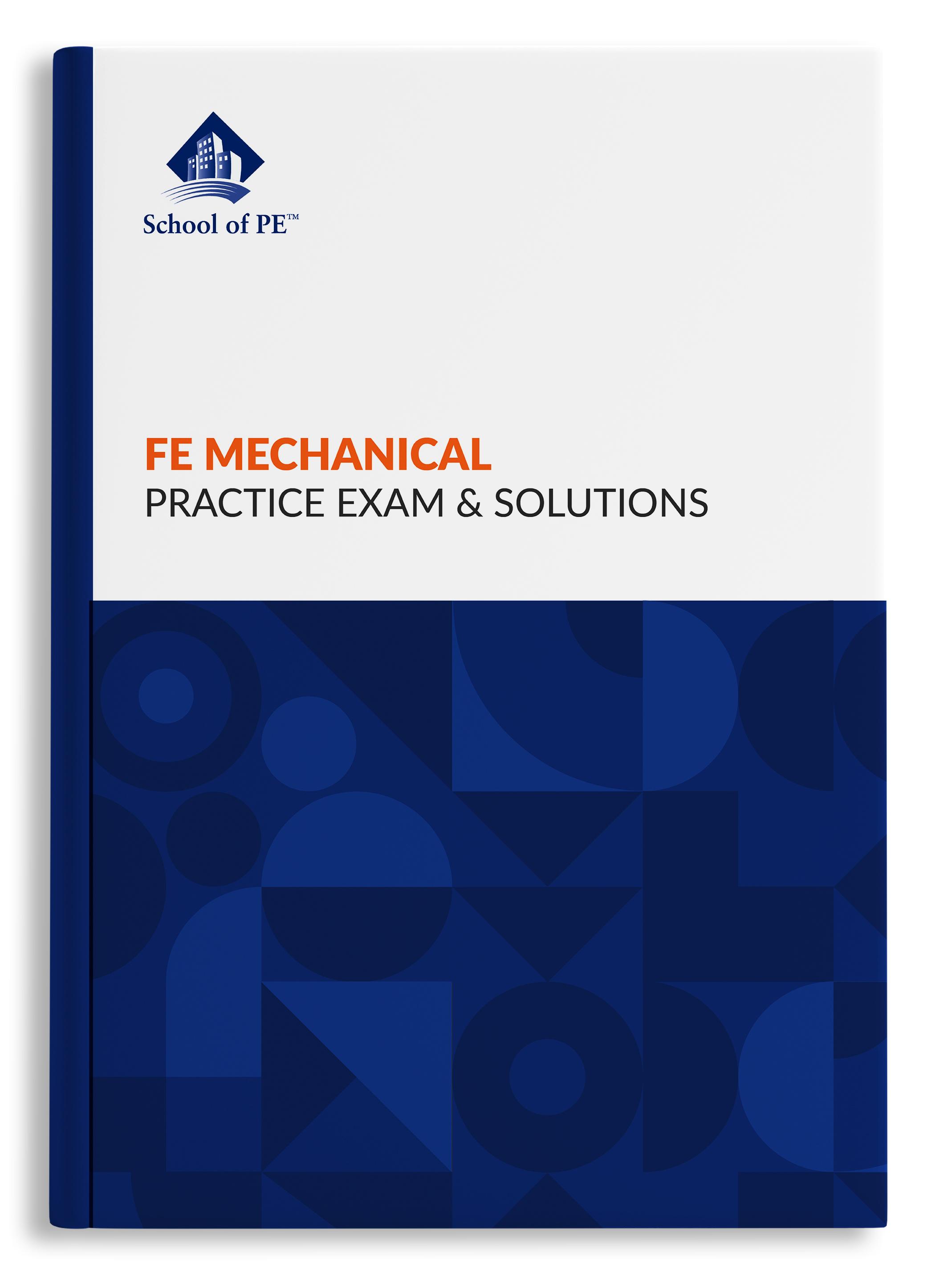 FE机械实践考试和解决方案